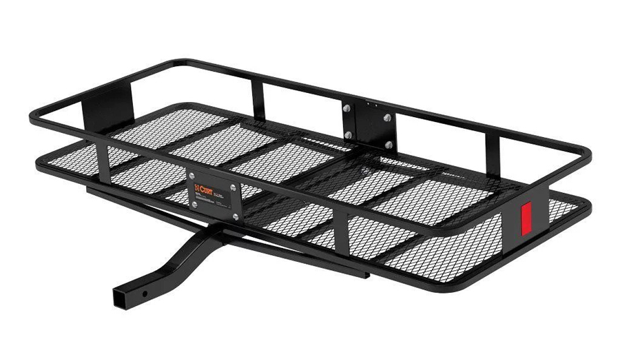 Curt Hitch-Mounted Cargo Rack in black