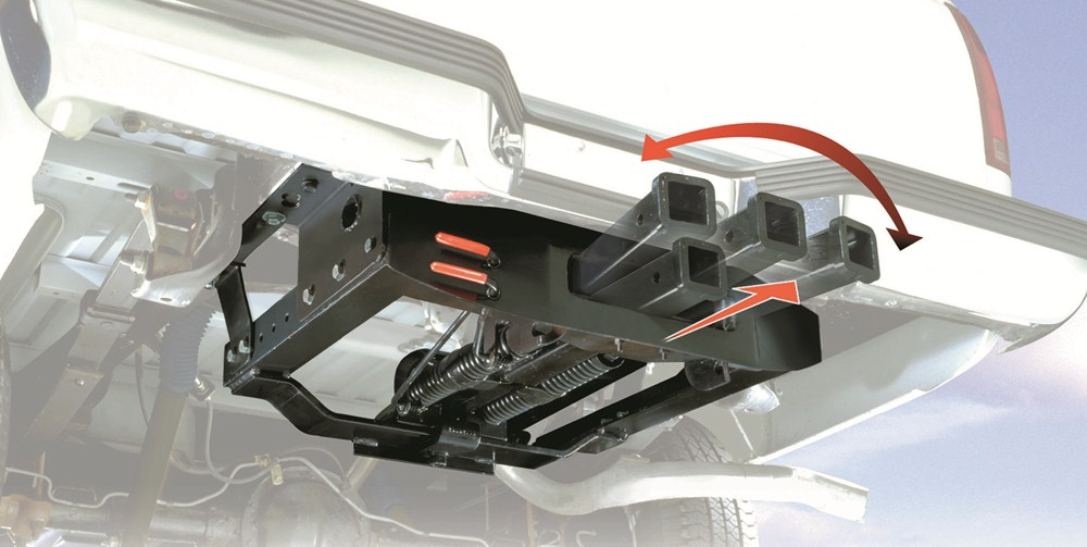 Cushioned AG Hitch under a truck